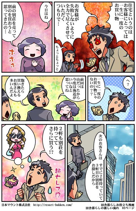 漫画田舎暮らしの新しい流れ02ページ