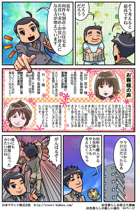 漫画田舎暮らしの新しい流れ04ページ