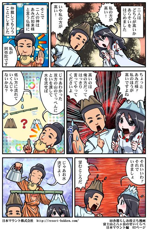 【漫画】富士山と八ヶ岳のせいくらべ 日本マウント編02