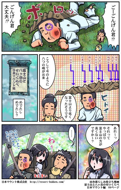 【漫画】富士山と八ヶ岳のせいくらべ 日本マウント編04